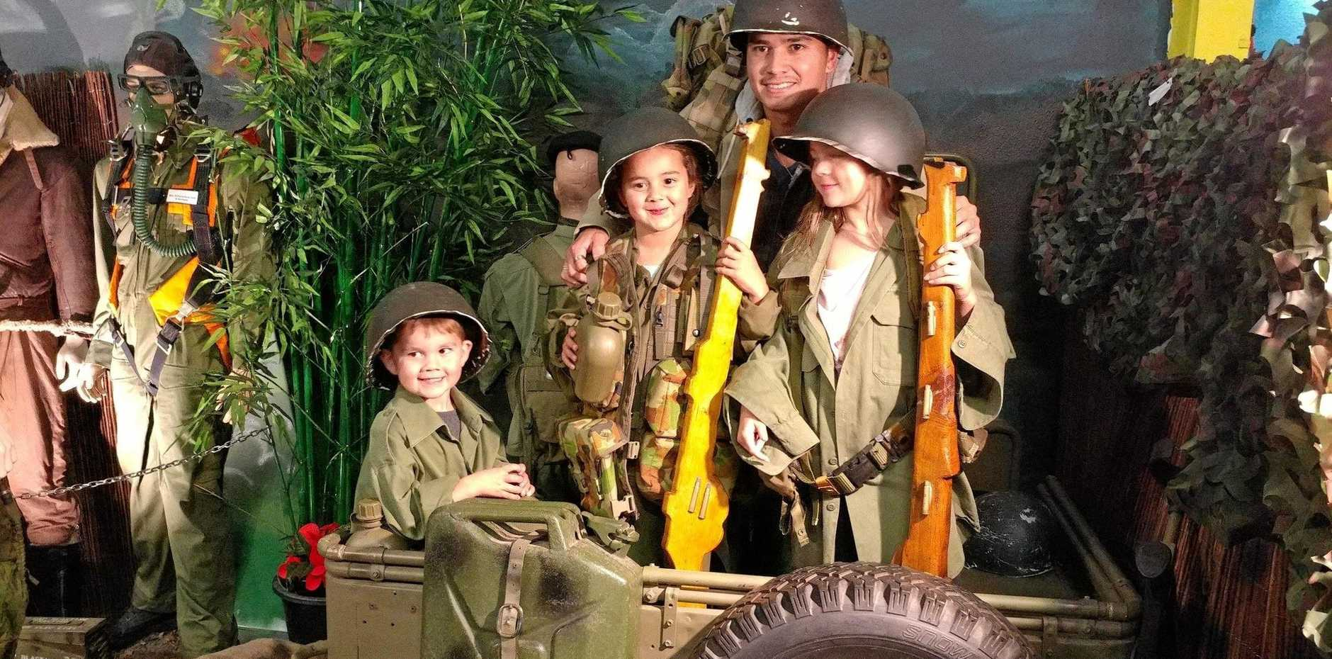 AUTHENTIC: It's family fun at the Central Coast Interactive War Exhibit with fascinating war history items on display.