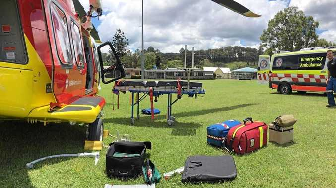 A man has been injured in an incident on a Burringbar property.