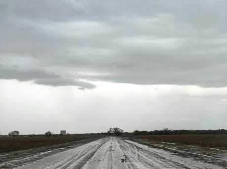 Julie Allen shared this image to Who Got The Rain? Facebook page following 59 mm, Tarcombe SW of Longreach.