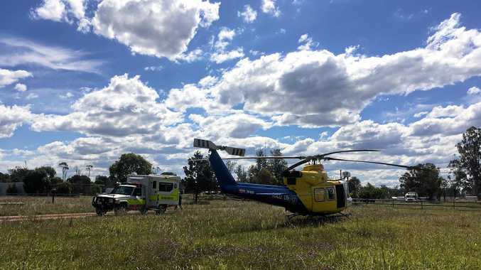 RESCUE: A man, 57, airlfifted from west of Bundaberg.Photo RACQ LifeFlight Rescue
