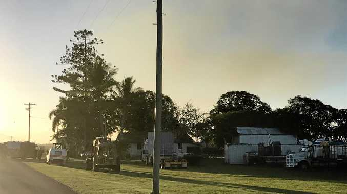 A man has died after a machinery accident south of Mackay.