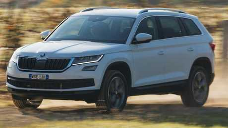 The Skoda Kodiaq is the only European-built car in the contest. Pic: Supplied.