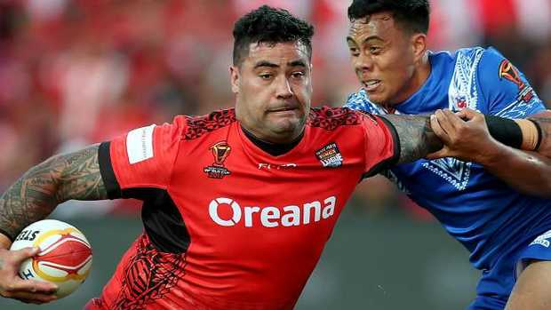 Facing Australia in the final could be very tricky for Fifita. (AAP Image/David Rowland)