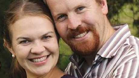 Nick and Sarah Jensen chose to do an unorthodox gay marriage protest. Source: Supplied