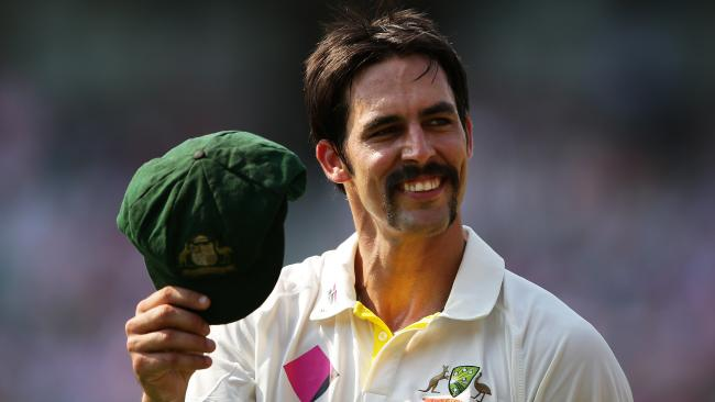 Australia's Mitchell Johnson has been named in Michael Vaughan's all-time Ashes XI.