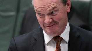 Defence Industries Minister Christopher Pyne reckons he was asleep at 2am.