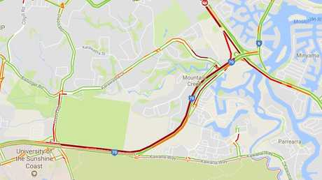 Traffic is heavily impacted by the crash on the Sunshine Motorway.