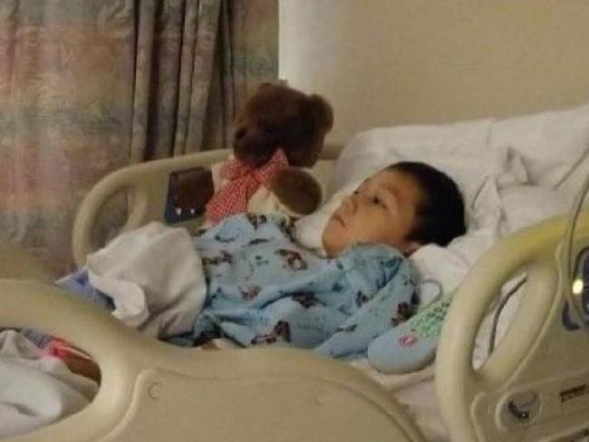 Alejandro Hernandez, 6, is hospital after the attack. Picture: GoFundMe Source:Supplied