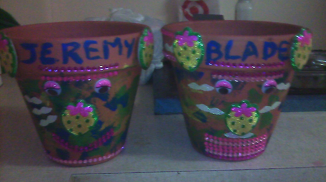 Pot plants made by Jeremy and Blade.