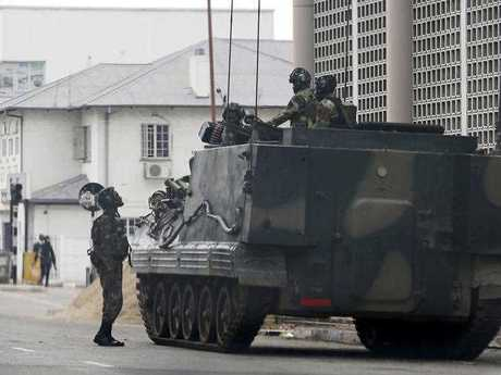 The military are now on the streets of Zimbabwe.