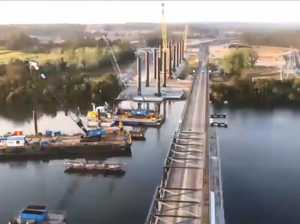 Timelapse of Harwood river crossing progress