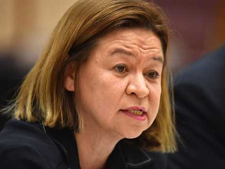 Managing Director of the ABC Michelle Guthrie during Senate Estimates at Parliament House in Canberra, Tuesday, October 24, 2017.