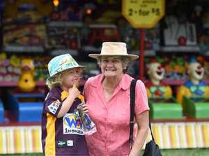 Oscar Donald, 4, with grandma Julie Rushton, of