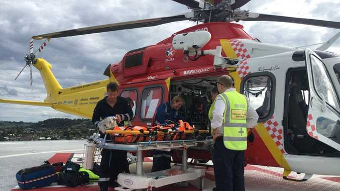 The Westpac Life Saver Rescue Helicopter was tasked by NSW Ambulance to attend an incident on Belongil Beach, where a horse rider had fallen from her horse.