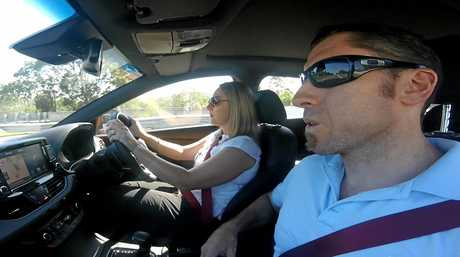 Kelly and Grant Edwards test driving the i30.