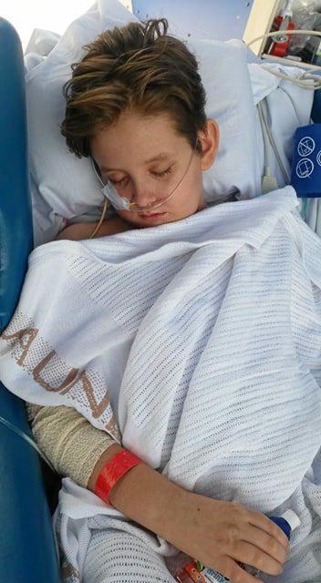 SETBACK: Chinchilla boy Jaymon Gaul is back in the ICU at Lady Cilento Children's Hospital.