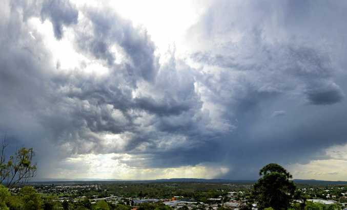 Storm coming towards Ipswich on Wednesday afternoon, December 21, 2016