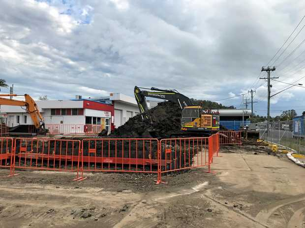 Work is under way at the Shell service station in Dawson St, Lismore.