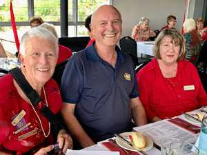 MILESTONE MERRIMENT: (From left) Carol Bomford, guest speaker Greg McCosker and Leonie Palmer at Buderim VIEW Club's 40th anniversary celebrations.