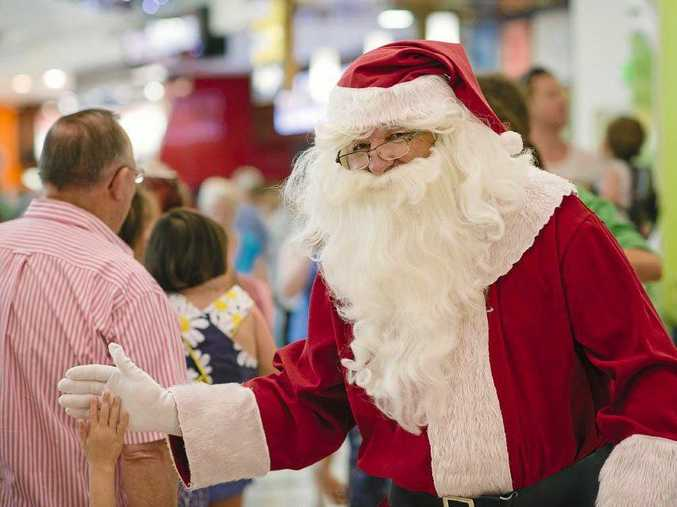 MERRY CHRISTMAS: Santa has arrived at Grand Central Shopping Centre.
