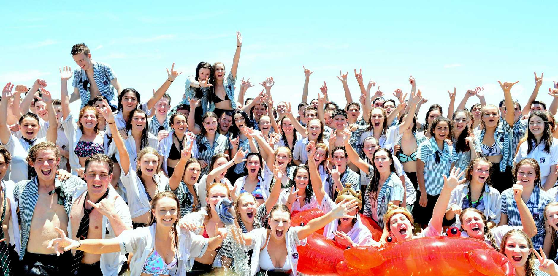 Nambour Christian College's class of 2017 celebrate the final day of year 12.