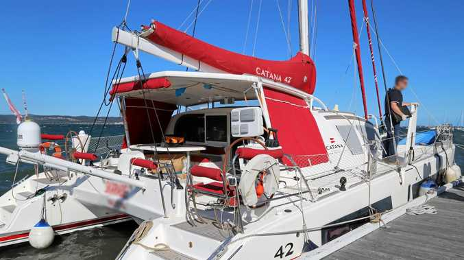 DRUG BUST: A yacht carrying about 750kg of cocaine from the South Pacific to NSW arrived in Coffs Harbour in 2017. Nathan Patterson (AFP)