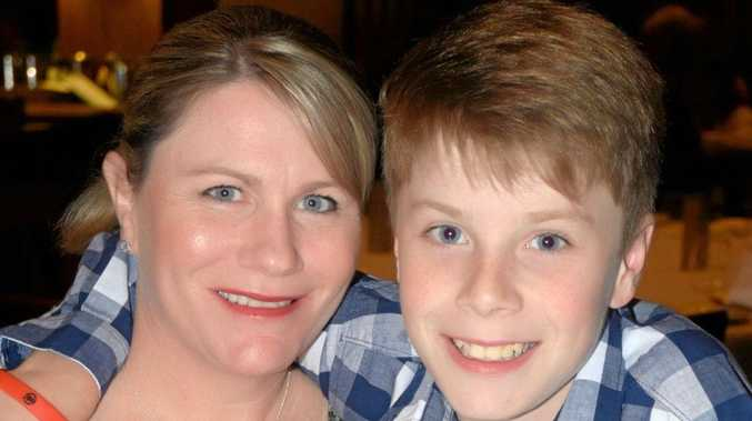 Connor Rodgers and his mum Kerri, who says she is proud of how he has coped with having Tourette Syndrome.