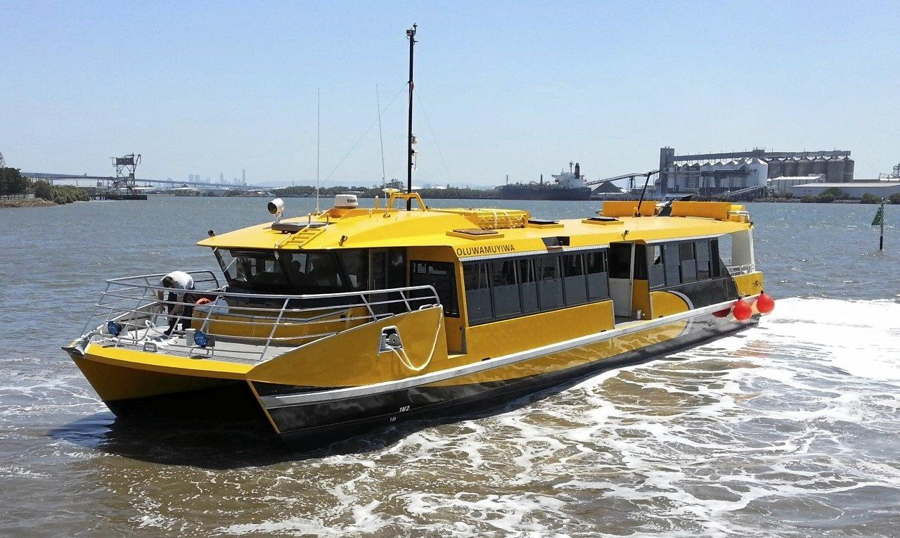 A ferry similar to those planned for construction in Caloundra.