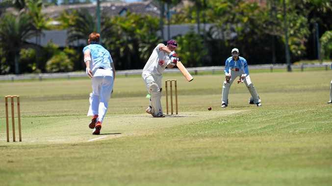 Titenbar-East Ballina batsman Abe Crawford during the game against South Ballina at Kingsford Smith Park in Ballina.