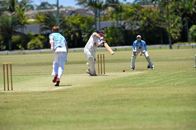 Titenbar-East Ballina batsman Abe Crawford during the game against South Ballina at Kingsford Smith Park in Ballina.