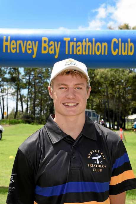 Hervey Bay Triathlon Club's champion athlete, Matthew Hauser.