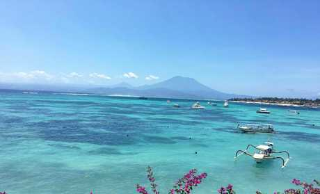 PARADISE FOUND: Nusa Lembongan's clear turquoise waters are a dream for surfers, swimmers and snorkelers.