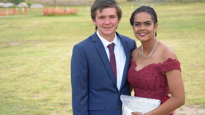 Zac Williams and Skye Pope, Eidsvold State School formal, November 17, 2017.
