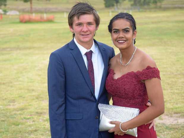 Zac Williams and Skye Pope, Eidsvold State School formal, November 17, 2017.