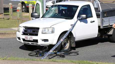 The scene of a serious Coolangatta crash. Photo: Scott Powick