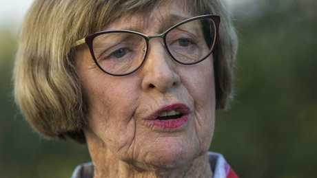 Margaret Court has said she may turn her back on teh Liberal party dfue to the SSM vote. Picture: Ross Swanborough.