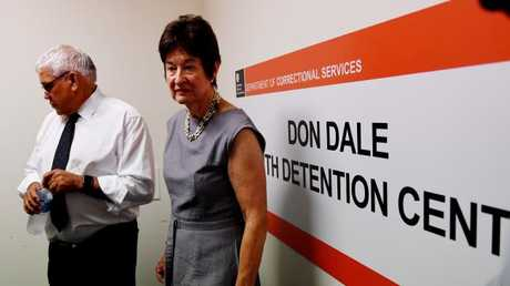 Royal commissioners  Mick Gooda and Margaret White during a tour of the notorious Don Dale Youth Detention facilities