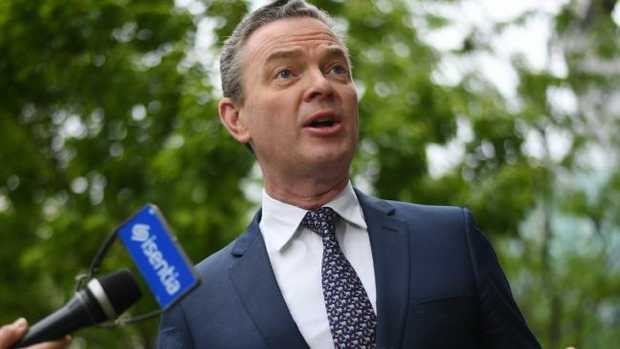 Christopher Pyne blames hacker for Twitter account liking gay pornographic tweet
