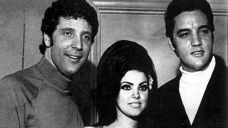 Tom Jones with Priscilla Presley and Elvis Presley.