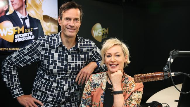 WSFM breakfast duo Brendan Jones and Amanda Keller. Picture: Toby Zerna