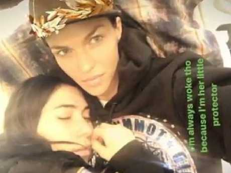 Ruby Rose and girlfriend Jessica Origliasso in Instagram posts this week. Pic: Instagram
