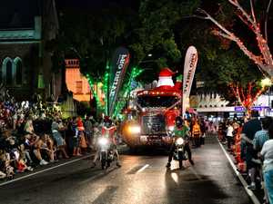The QT Christmas Twilight Parade in the Ipswich CBD
