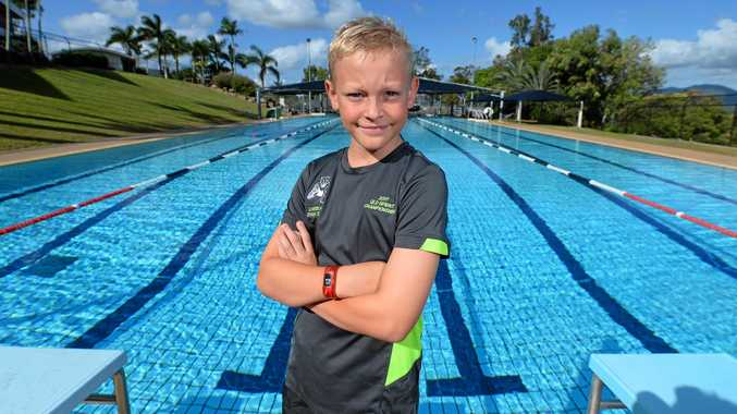 SWIM STAR: After his record-breaking effort, Koda Milburn now has his sights set on next month's state championships in Brisbane.