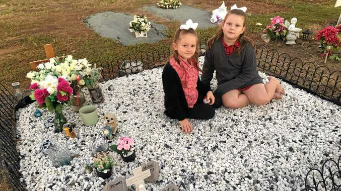 Zenneth's nieces visit him bearing gifts and ornaments in his memory.