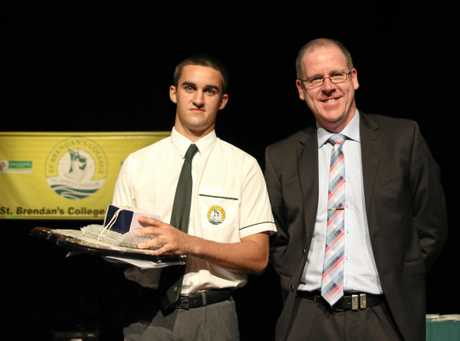 Year 12 VET student of the year, Dan McNamara.