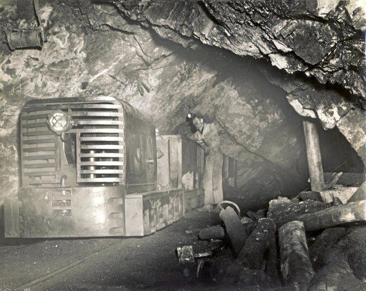 An underground coal mine.