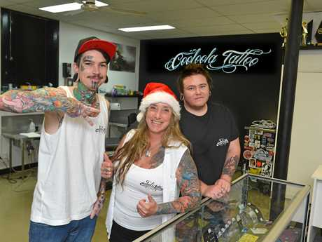Christmas feature Cooloola Tattoo Josh Archer, Caz Smith and Kevin Allen.
