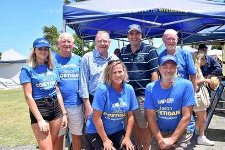 LNP Whitsunday MP Jason Costigan joined with LNP Senator Ian McDonald and supports at the Airlie Beach foreshore markets this morning.
