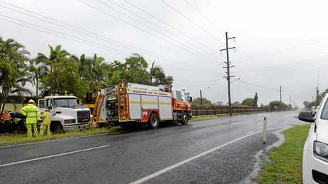 Cane train takes out a semi- trailer at South Kolan.