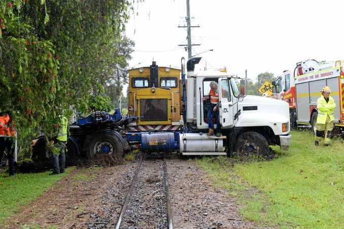 Cane train takes out a semi- trailer at South Kolan.